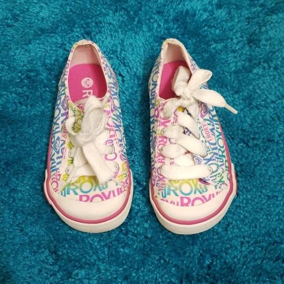 Roxy Cute Little Girl Multi Color Sneakers